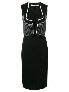 GIVENCHY PRE-OWNED 2000's sleeveless fitted dress - Black
