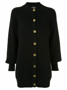 Chanel Pre-Owned longline cashmere cardigan - Black