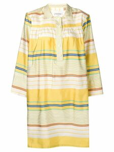 Yves Saint Laurent Pre-Owned 1980's striped dress - Yellow