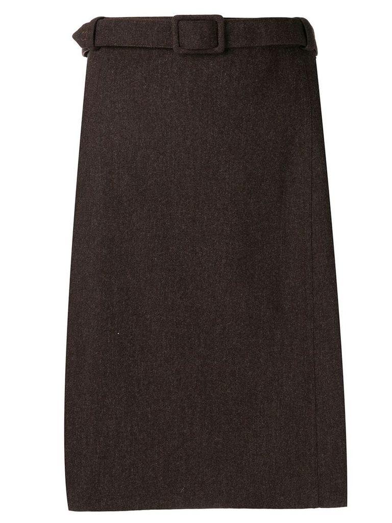 Chanel Vintage 1990's belted skirt - Brown