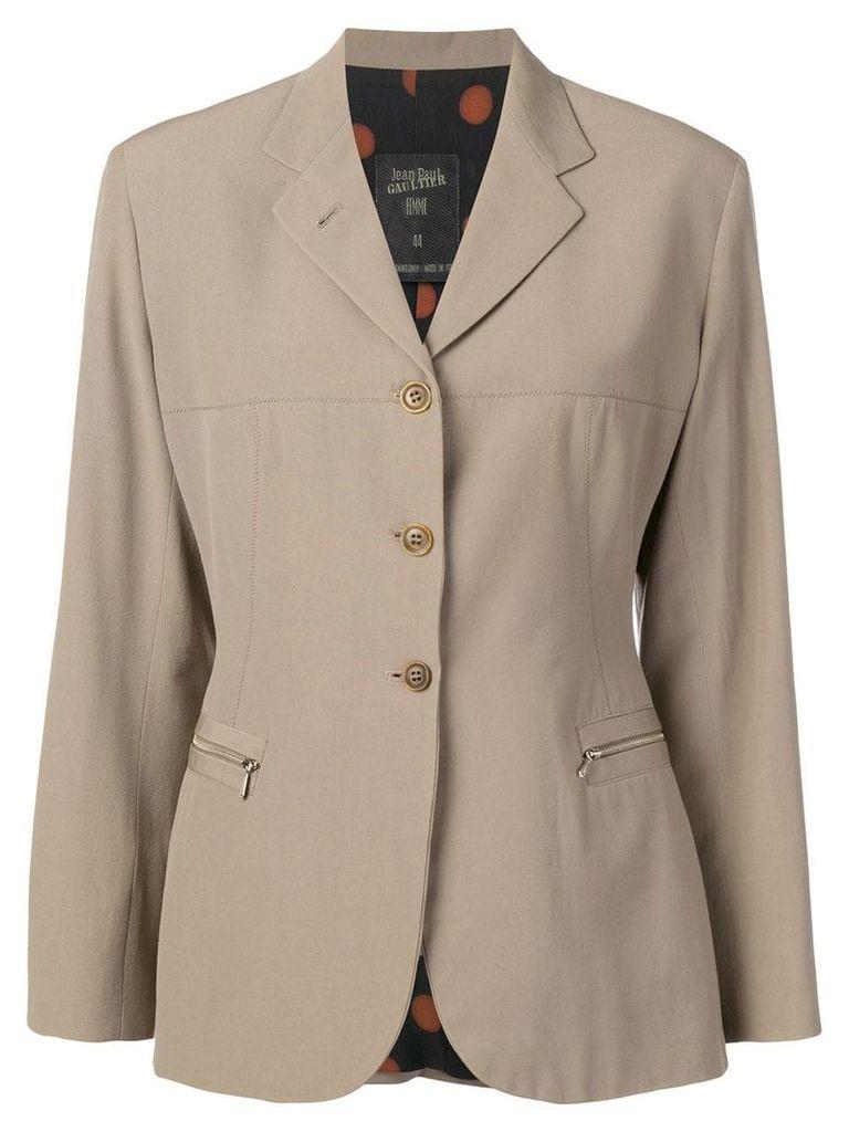 Jean Paul Gaultier Vintage 1990's classic blazer - Neutrals