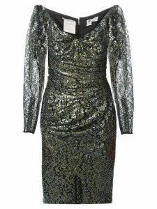 Emanuel Ungaro Pre-Owned sequin and lace dress - Black