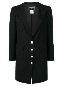 CHANEL PRE-OWNED 2007's classic blazer - Black
