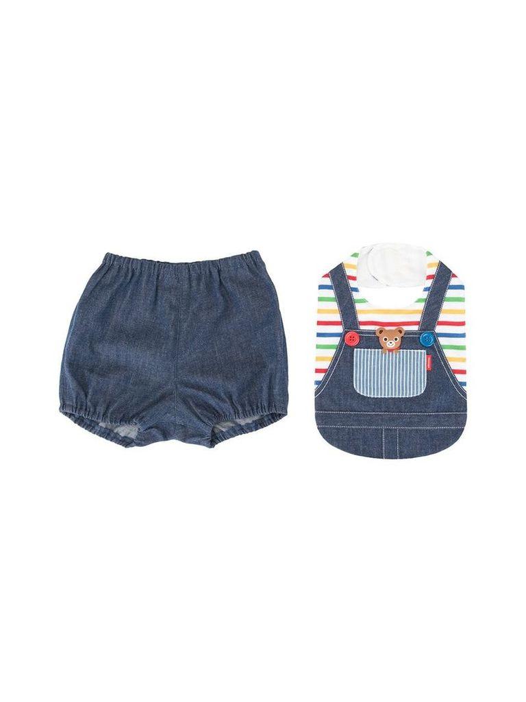 Miki House overalls style bib - Blue