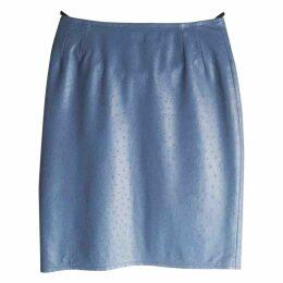 Ostrich skirt suit