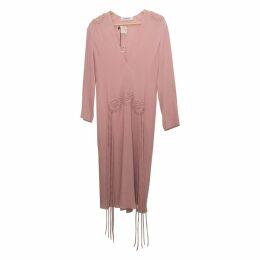 Leather mid-length dress