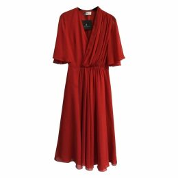 Silk mid-length dress