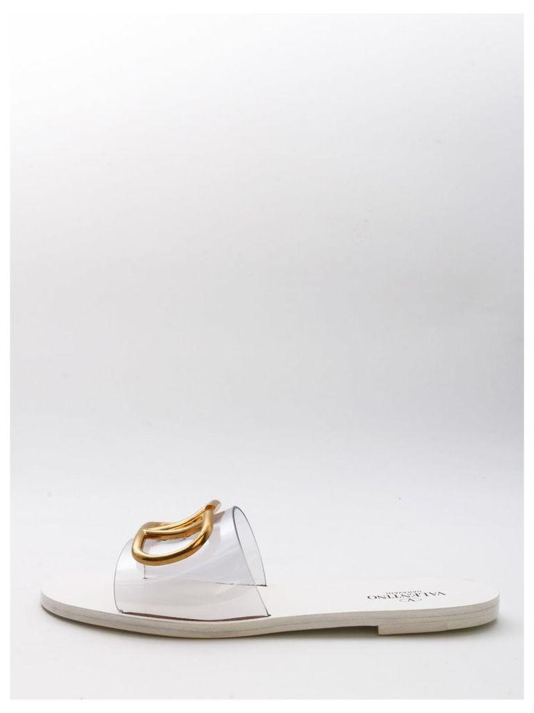 Valentino Garavani Slipper Go Logo White