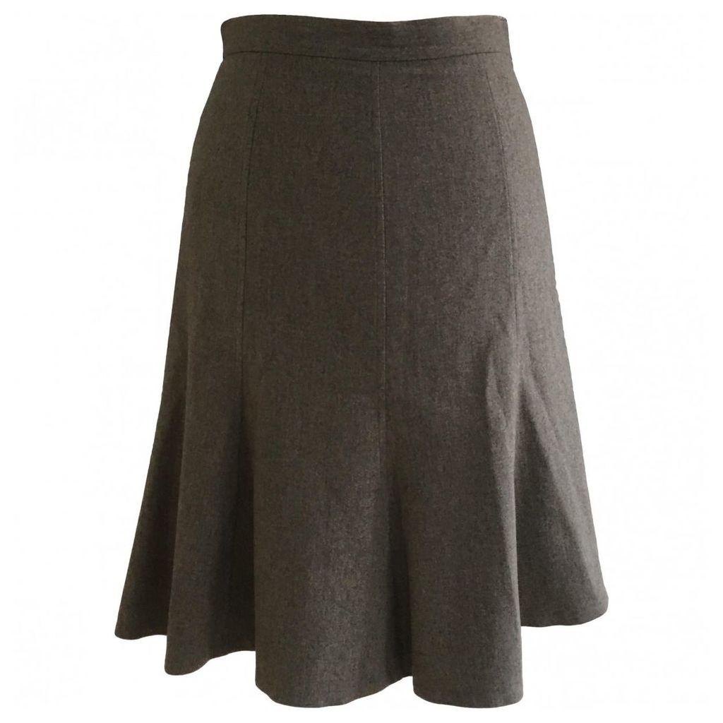 Wool mid-length skirt