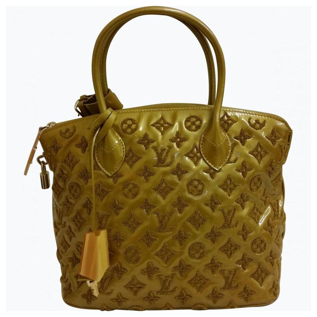 Lockit patent leather handbag