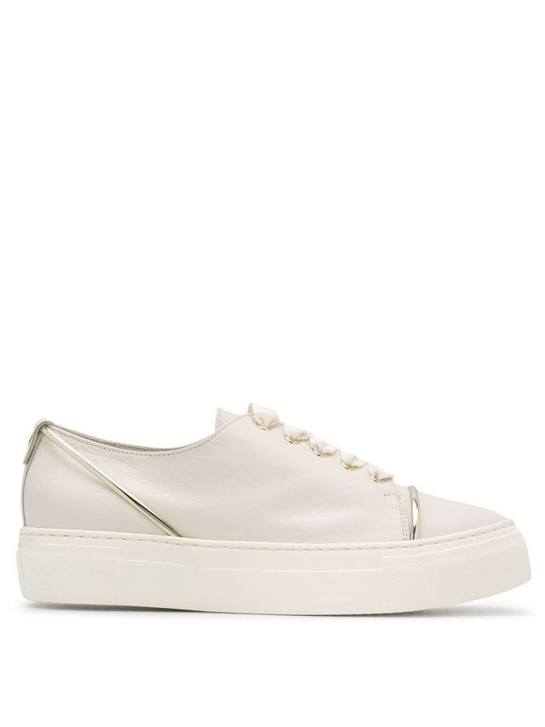 Agl platform sole sneakers - White