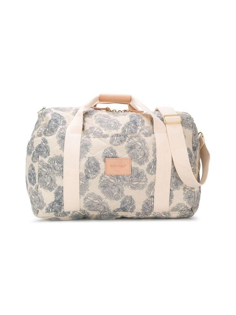 Moumout peonie print changing bag - Neutrals