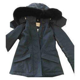 Navy Cotton Coat