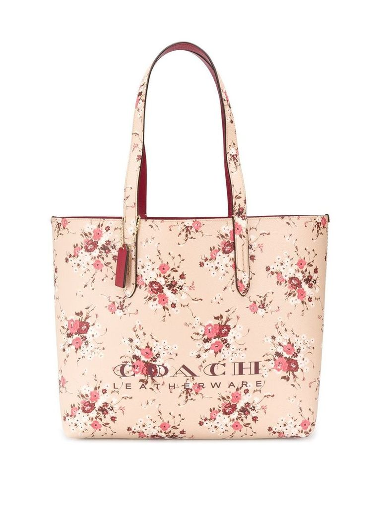 Coach floral print tote bag - Neutrals
