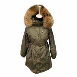 Khaki Polyester Coat
