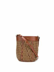 A.P.C. woven bucket bag - Brown