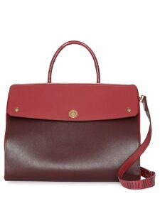 Burberry Medium Leather and Suede Elizabeth Bag - Red