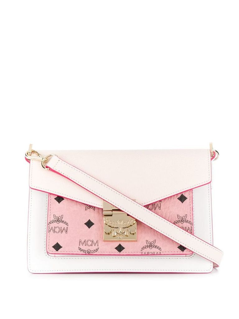 MCM foldover shoulder bag - Pink