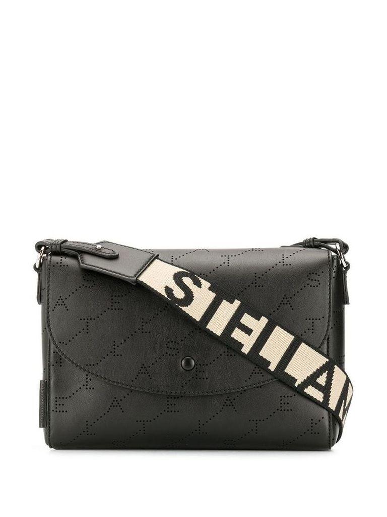 Stella McCartney monogram shoulder bag - Black