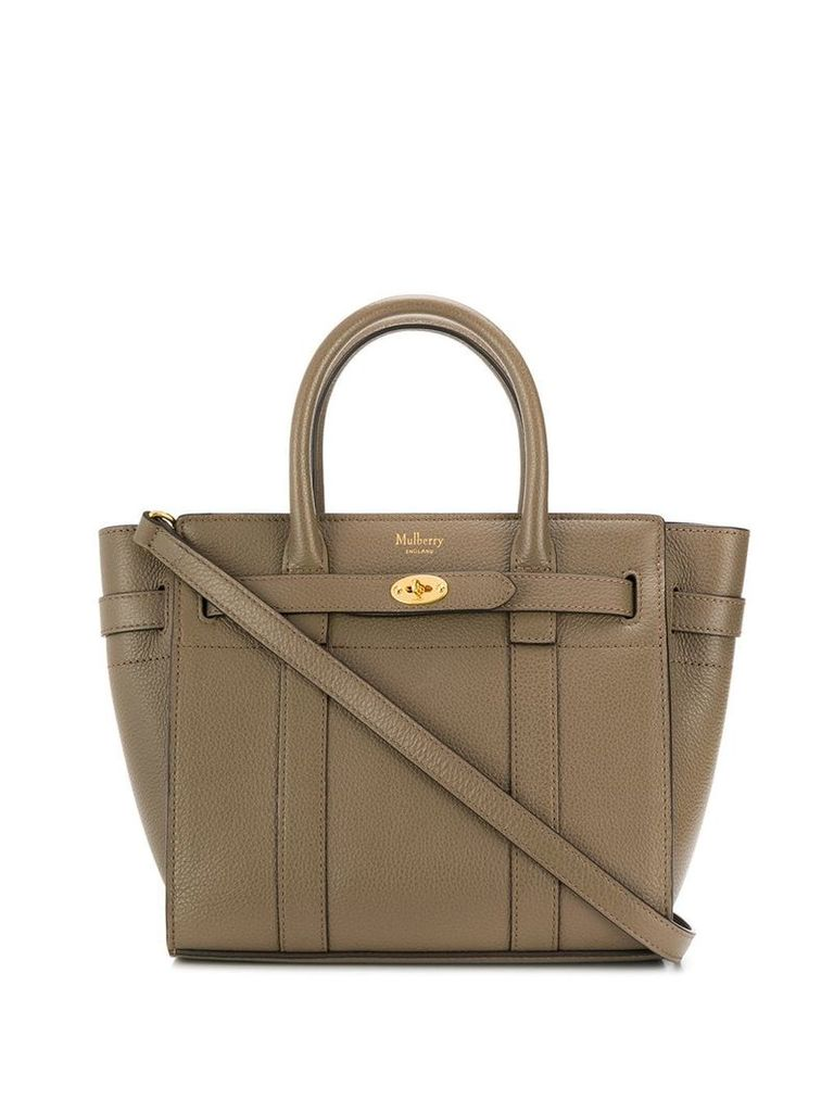 Mulberry mini zipped Bayswater tote - Brown