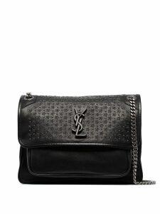 Saint Laurent Niki medium stud embellished leather shoulder bag -