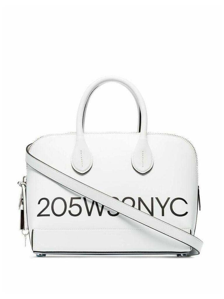 Calvin Klein 205W39nyc Dalton small logo print tote bag - White