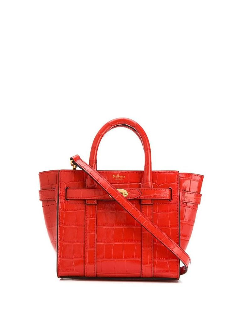 Mulberry micro zipped Bayswater tote - Red
