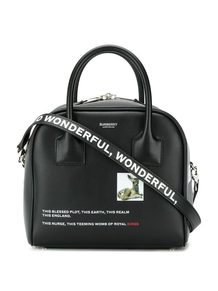 Burberry deer print tote bag - Black