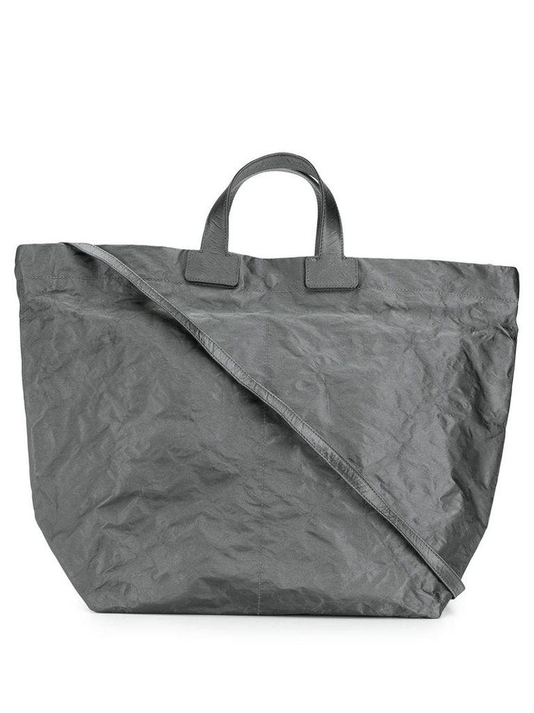 Zilla crushed shopper tote bag - Grey