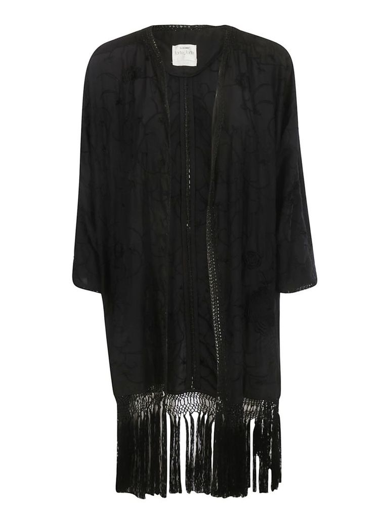 Forte Forte Embroidered Fringed Cardigan