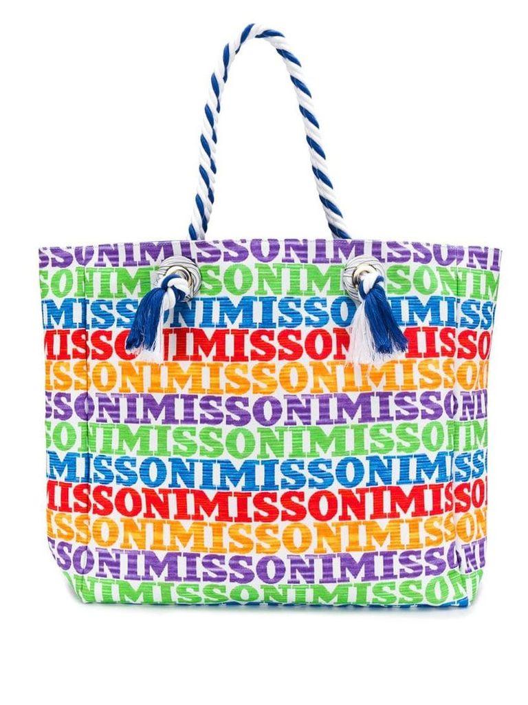 Missoni Mare large logo shoulder bag - Red