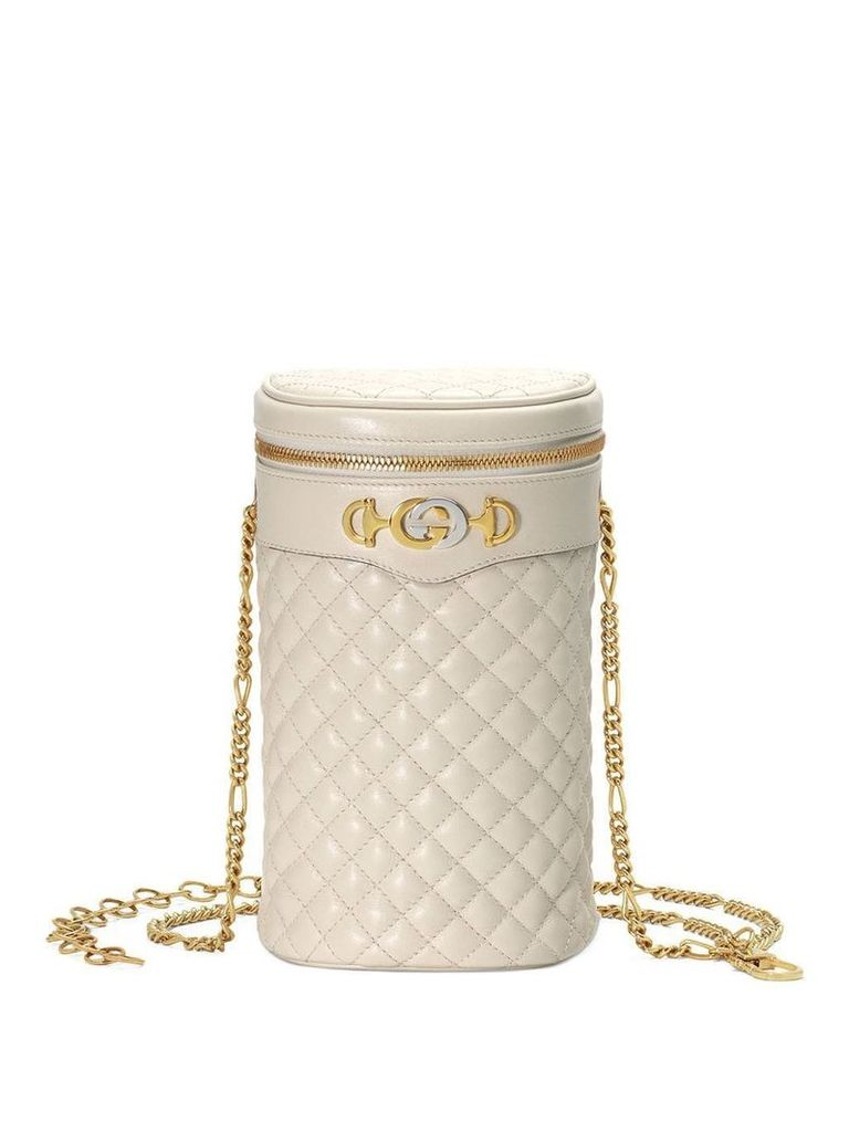 Gucci Quilted leather belt bag - White