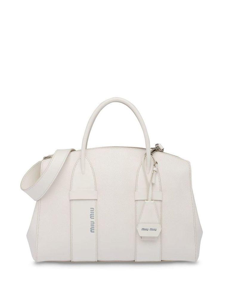 Miu Miu Madras tote bag - White