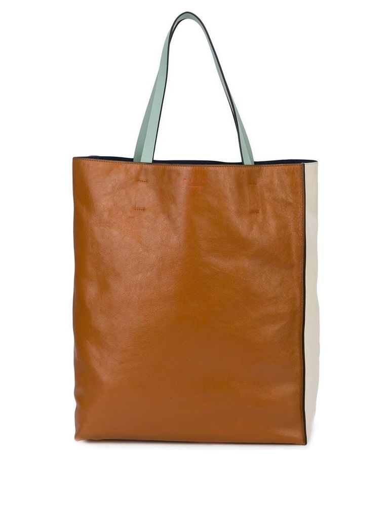 Marni large tote bag - Brown
