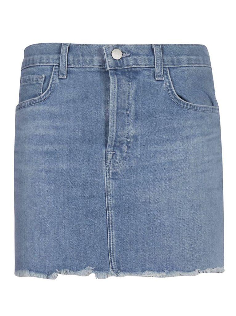 J Brand Frayed Edges Skirt