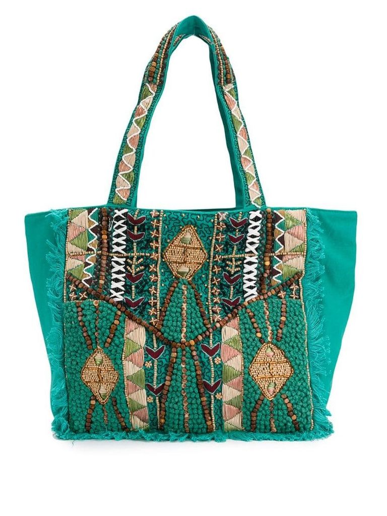 Antik Batik Mauri tote - Green