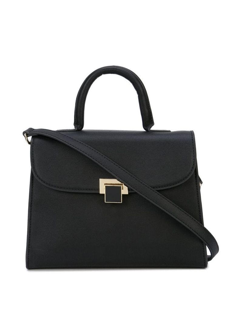 Christian Siriano folder top shoulder bag - Black