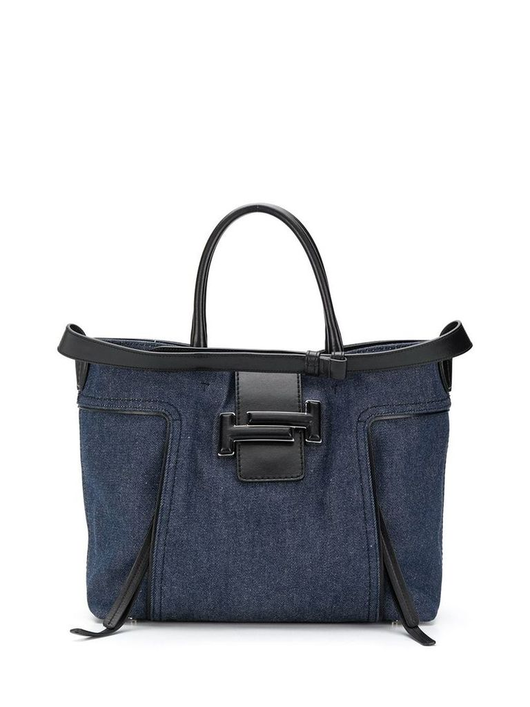 Tod's denim style shoulder bag - Blue