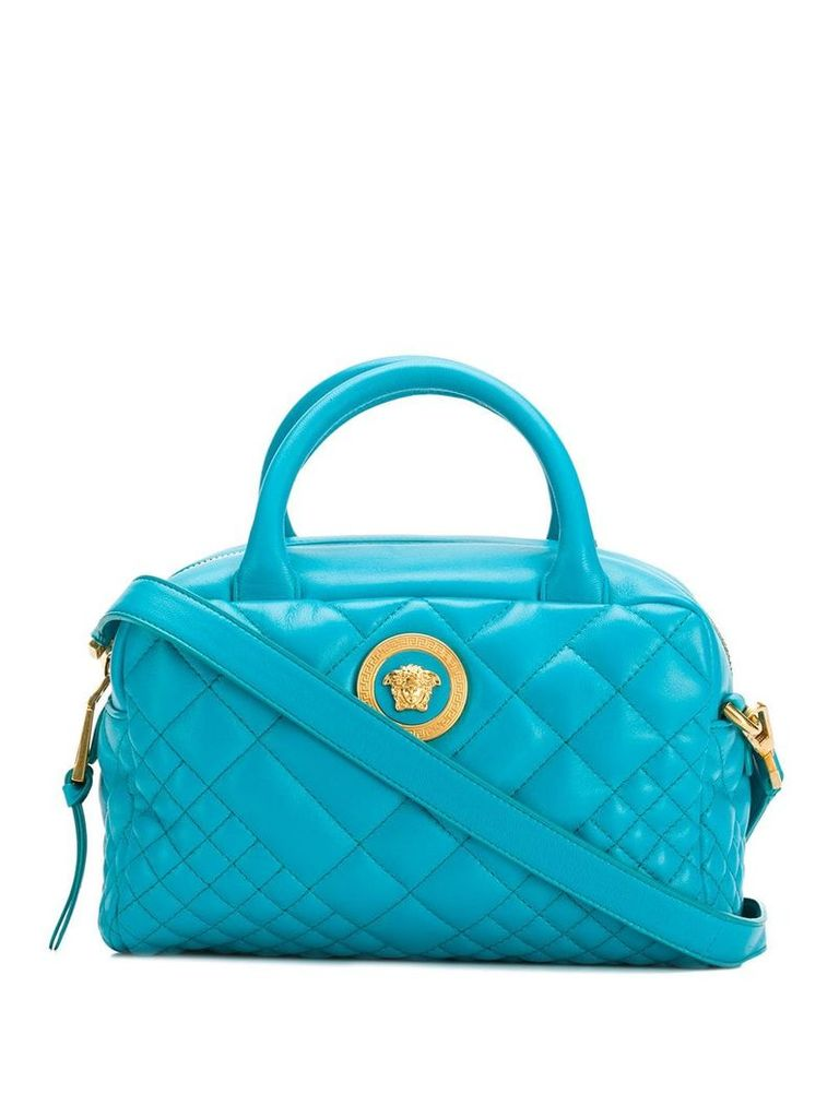 Versace quilted medusa bag - Blue