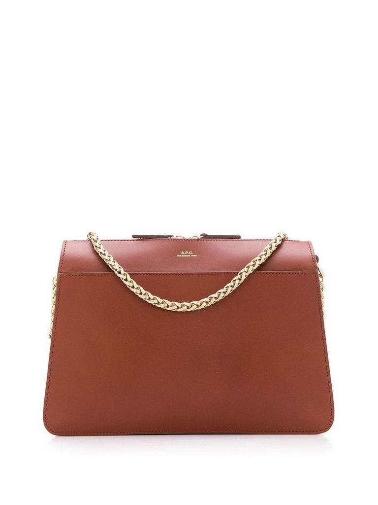 A.P.C. gold chain strap shoulder bag - Brown