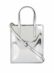 Juun.J logo embossed shoulder bag - Silver