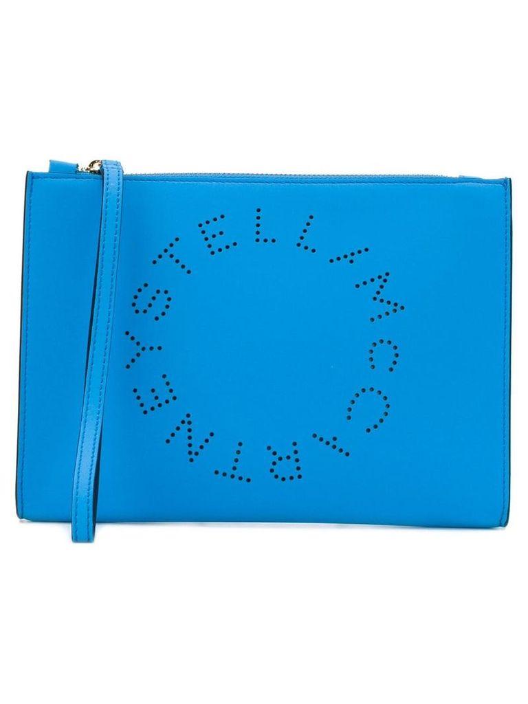 Stella McCartney Stella Logo clutch bag - Blue