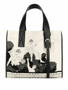 Cédric Charlier printed tote bag - Neutrals