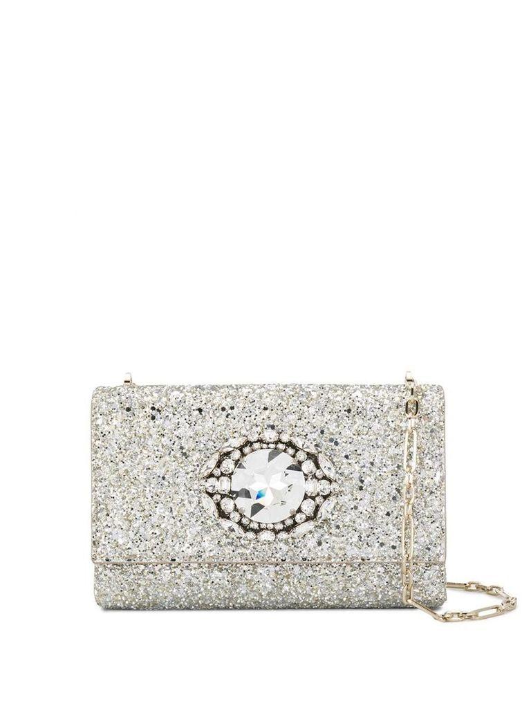 Jimmy Choo Thea glitter crossbody bag - Gold