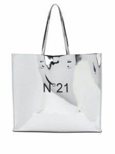 Nº21 logo shoulder bag - Metallic