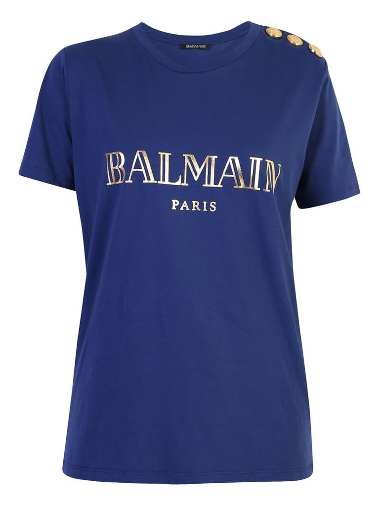 Balmain Logo Print Cotton T-shirt