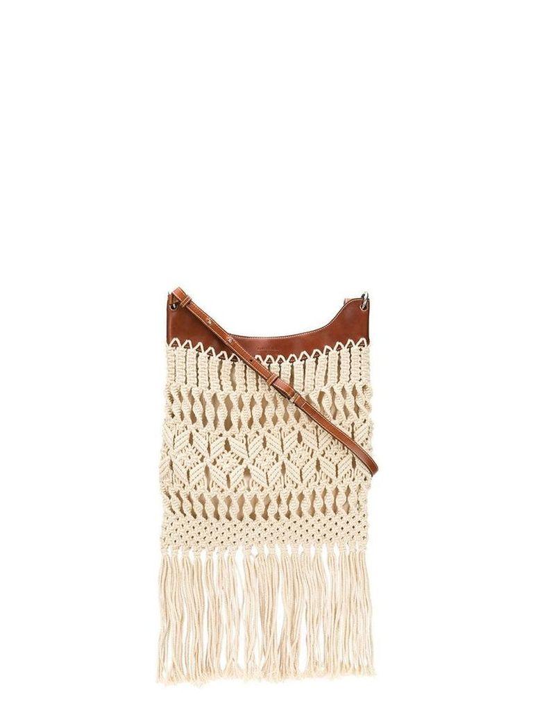 Isabel Marant Teomia crocheted shoulder bag - Neutrals