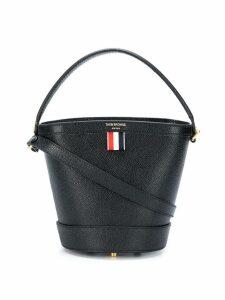 Thom Browne Leather Sand Bucket Bag - Black