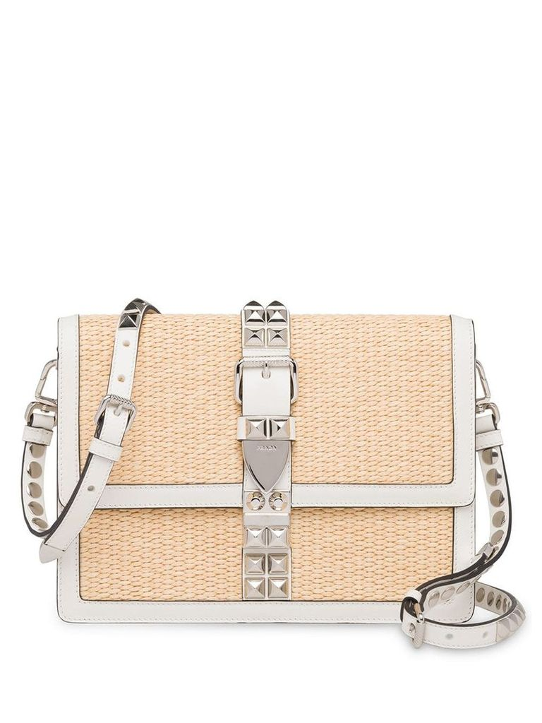 Prada Elektra woven shoulder bag - Neutrals