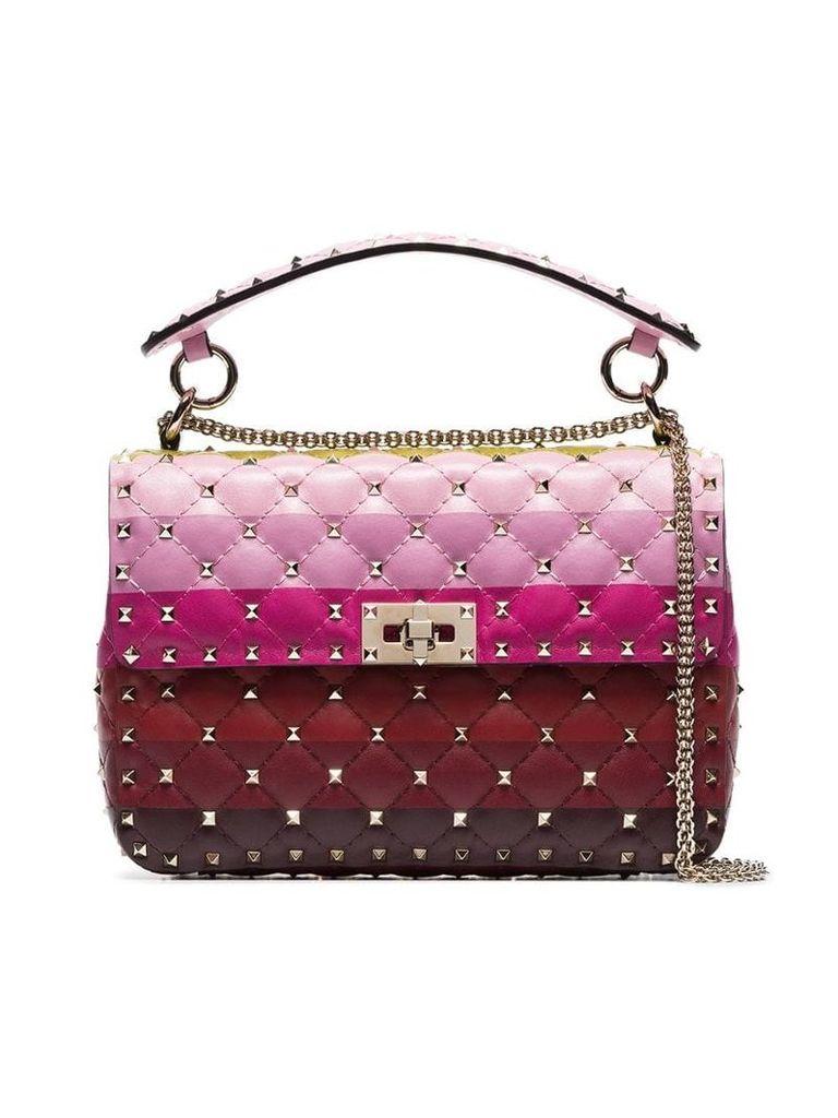 Valentino stripe panel Rockstud Spike medium shoulder bag -
